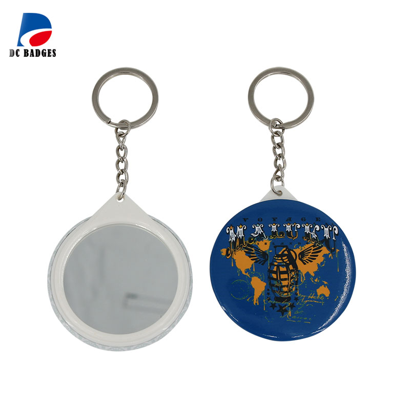 Wholesale 2-1/4 58mm 1000sets Mirror Badge keychain material without logo wholesale 1 4 2v3a