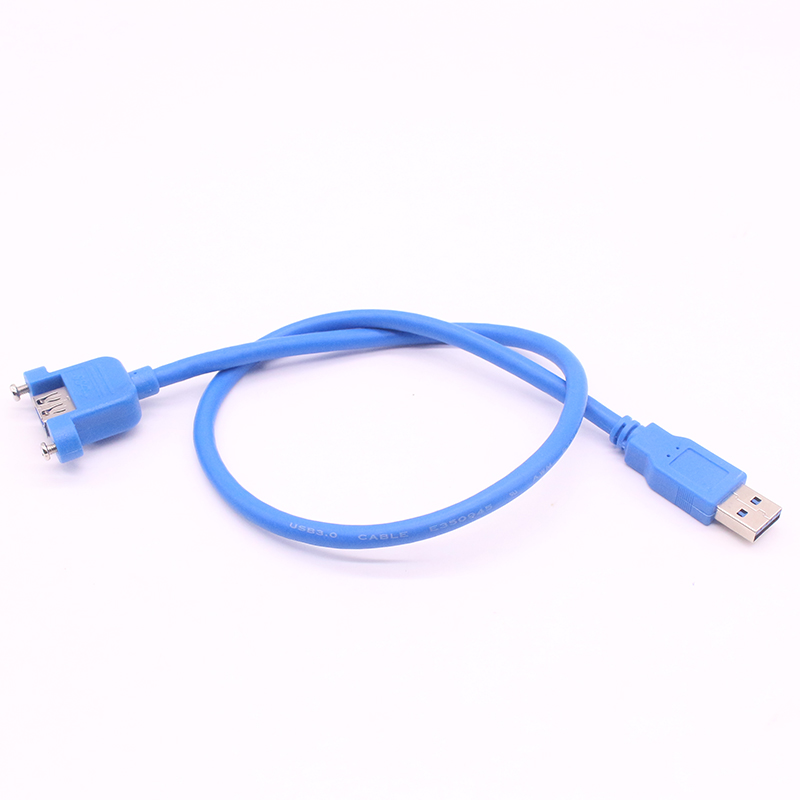 High Speed USB3.0 Male To Female USB 3.0 Extension Cable Wire Computer Host Panel Mount Screw USB Connector Adapter 0.3m 0.5M 1M long shaggy deep side part kinky curly synthetic wig