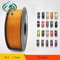 PLA Filamento 1.75mm 1 kg/2.2lbs para 1.75 Impressora 3D Reprap Plástico/Wanhao/Makerbot Frete Grátis