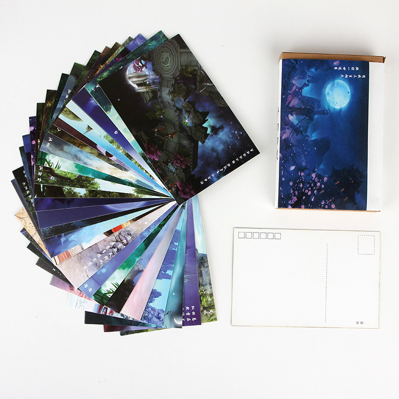 30 Sheets/Set Dream Fairyland Series Postcard/Greeting Card/Message Card/Birthday Letter Envelope Gift Card Two Sizes