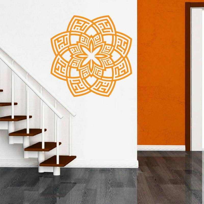 Alhamdulillah Fl Kufi Br Putih Stiker Dinding Untuk Ruang Tamu Home Decor Vinyl Mural Diri Perekat Kertas F726 Di Wall Stickers Dari