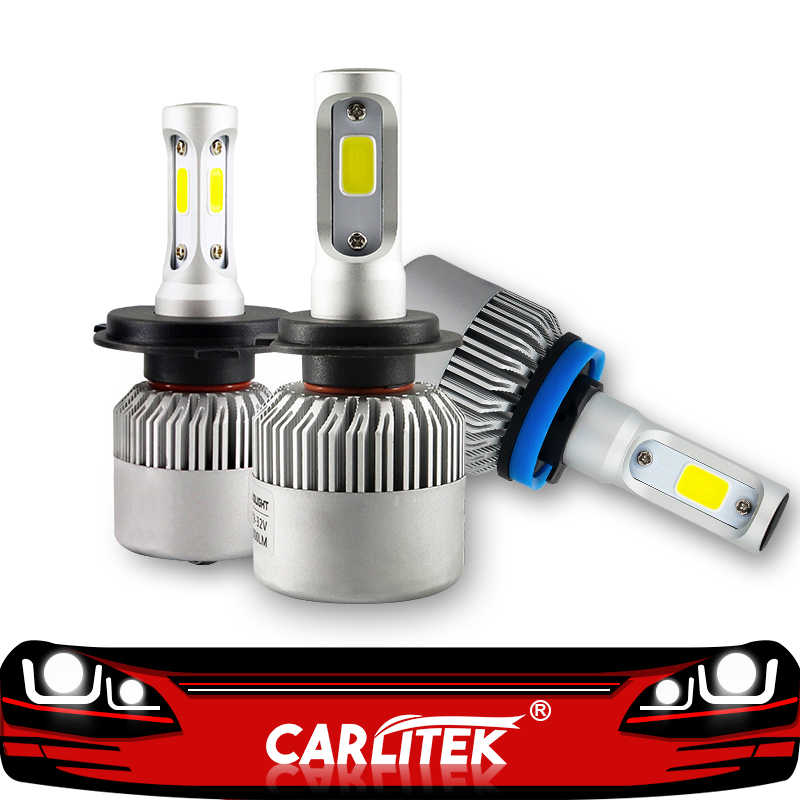 CARLitek Diodes Led H4 H7 H11 H1 Car Headlight Bulbs Near Far Light 6500K 9005 9006 Led Kits 4500LM 6000LM 8000LM Auto Lamp