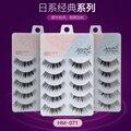 High quality 3set/lot(15 pairs) Japanese style false eyelash 100% hand made transparent plastic terrier brand cosmetic eyelash