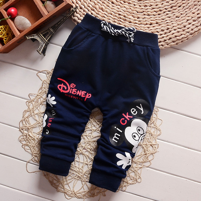 New 2018 Casual Pants baby trousers Boy Cotton Fashion Cute Cartoon Pants Baby All-Match Brand Pants Boys 7-24 Month