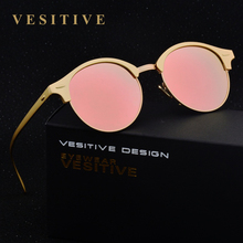 Brand Cat Eye polarized Sunglasses Women cateye Lady vintage retro Coating Mirror Aluminum Flat Lens Glasses lunette de soleil