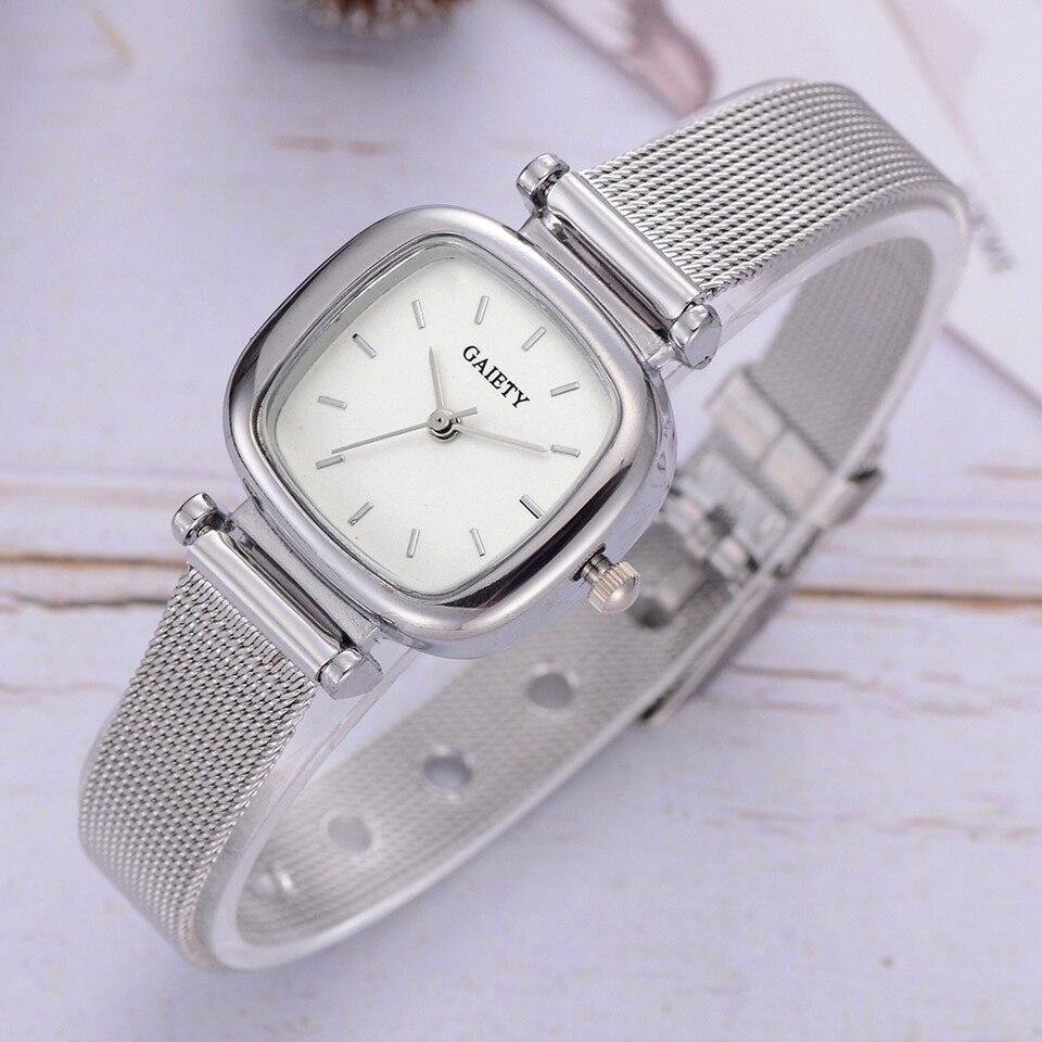 Gaiety Brand Luxury Silver Metal Belt Quartz Watches For Women Fashion Ladies Bracelet Dress Sports Wrist Watch Relogio Feminino
