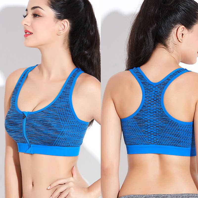 549139fcc1298 Detail Feedback Questions about Professional Women Sport Bra Zipper ...