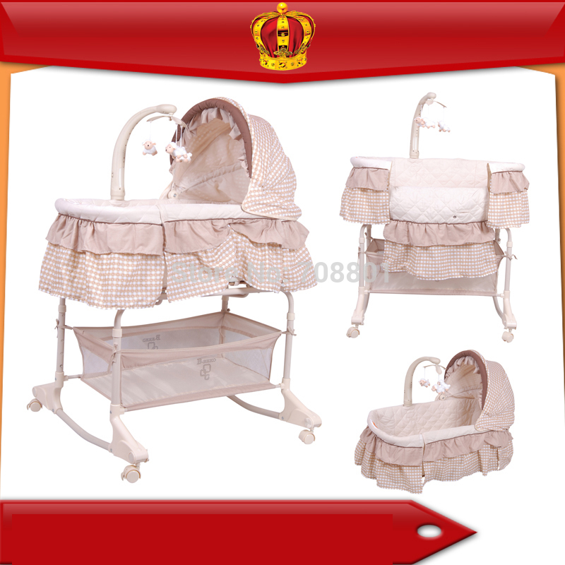 Crib Bebes 4-in-1 Baby Bassinet PP Plastic Frame Cradle SGS Was Approved