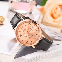 цены на Ladies Quartz Fashion Women Watch Rose Gold Leather Strap Analog Wrist Watches Female Clock Montre Femme Bayan Kol Saati  в интернет-магазинах