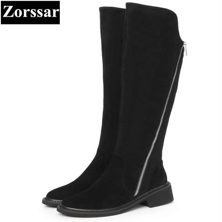 {Zorssar} 2017 new arrival winter ladies shoes cow suede Round Toe High heels Knee-high knight boots fashion womens boots winter hot 2017 new arrival women winter shoes sexy high heels knee high boots women round toe solid fashion platform pumps for ladies