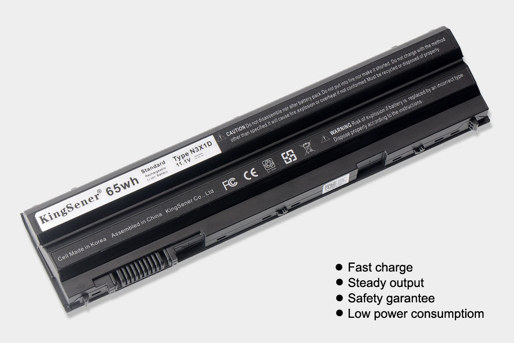 KingSener Korea Cell 65WH N3X1D Laptop Battery for DELL Latitude E5420 E5430 E5520 E5530 E6420 E6520 E6430 E6440 E6530 E6540 in Laptop Batteries from Computer Office