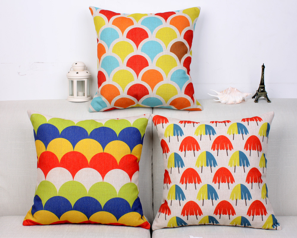 fashion kids throw pillows colorful pop art decoration scaled  - fashion kids throw pillows colorful pop art decoration scaled little pillowarctic blue bed covers wavy fish scaled printing in pillow case from home