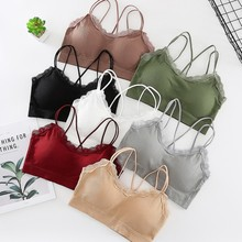 Sexy Strap Cross Tube Top Bra Women Sleeveless Slim Tanks Crop Tops Summer Lace