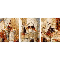 Frameless 3 Panels Ballet Dancer DIY Painting By Numbers Acrylic Picture Abstract Hand Painted Oil Painting