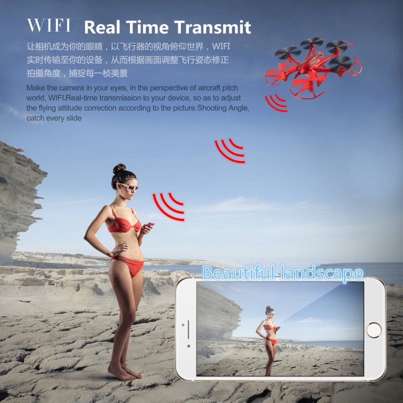 Aerial drone RF606 2.4g 6axis 6ch WIFI FPV RC drone helicopter headless Resistance fall with 2.0MP camera 3D VR glass vs x5uw 3d fpv goggle glasses with 3d 2d mode 40ch 5 8g receiver w camera for rc drone aerial photography for skyzone sky02s v