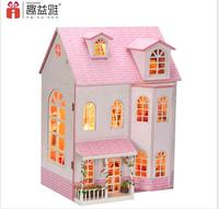 Scale Model Assembly 3D Big DIY Wooden Dollhouse Fairy Dream House Handmade Doll House With Miniatures