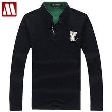 e932eb2de11 2018 nueva llegada del resorte hombres de secado rápido respirable  ocasional gato impresión Polo hombres camiseta Polo de manga .