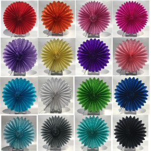 4-6-8-10-12-16inch Round Tissue Paper Fans DIY Paper Crafts Supplies for Wedding Baby Shower Birthday Party Festival Decoration(China)