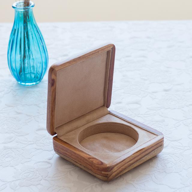 Palisandro africano puro caja de joyería de madera