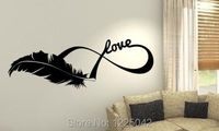 Mouse over image to zoom Great Feather Love Plume Animals wall art custom vinyl decals stickers Quotes size 48x148cm