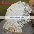 Free Shipping Belgian Bridal Umbrella  And fan Lace Parasol Wedding Set