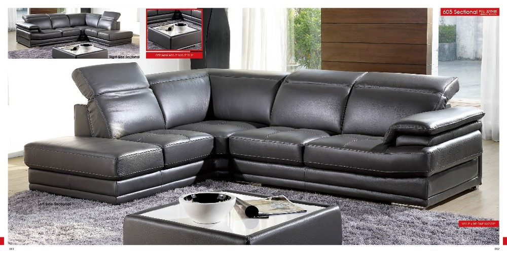 designer modern style top graded cow genuine leather sofa sectional - Furniture - Photo 3