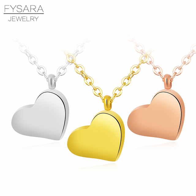 694b84d897c8 FYSARA nuevo Simple lindo suave pequeño corazón COLLAR COLGANTE para las mujeres  joyería de acero inoxidable