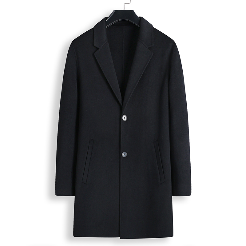100% Waar 2018 Winter Overjas Mens Fashion Boutique Wol Wollen Jassen/high-end Merk Mannelijke Slanke Wollen Windjack Maat 4xl-8xl Modieuze En Aantrekkelijke Pakketten