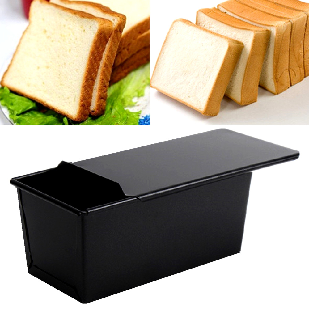 Rectangle Nonstick Box Cake Baking Pan New Large Loaf Tin Pastry Bread Bakeware Black Loaf Tin For Kitchen Tools