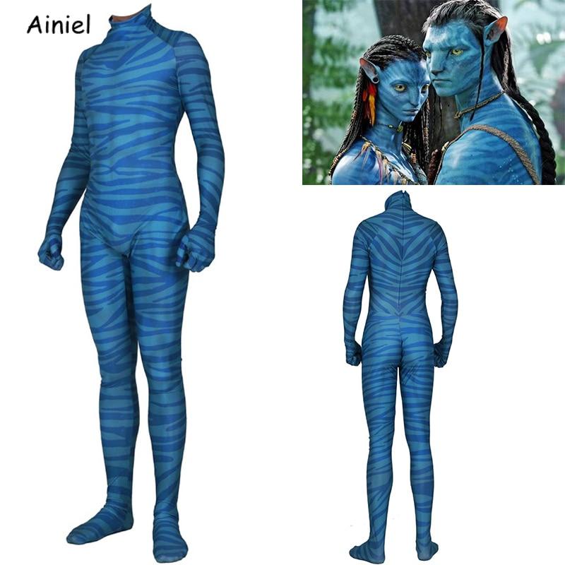 3D Print Avatar 2 Na/'vi Costume Lycra Spandex Neytiri Suit Female Male Outfit