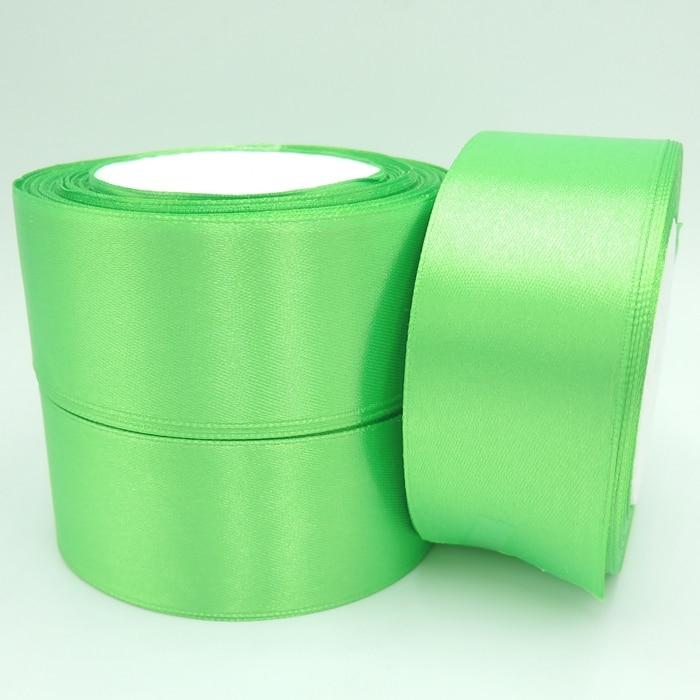 Зеленый цвет 38 мм Широкий Свадьба Ремесло атласной лентой, продается за пакет 1 рулон (25 ярдов) 052