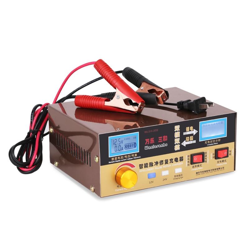 110 V-250 V 6-400Ah Auto Scooter Batterie De Voiture Chargeur 12 v 24 v Pour Le Plomb-Acide Au Lithium puissance Moto Batterie Pleine Charge Automatique