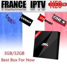 Français IPTV H96 Pro + Belgique Pays-Bas Luxembourg Europe IPTV Arabe IPTV S912 Octa base 3G RAM 32G GB ROM Android 6.0 TV boîte