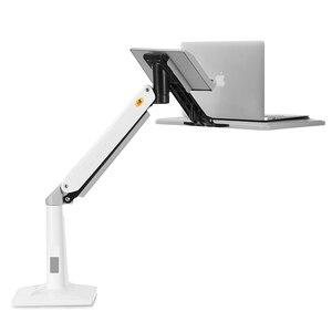 Image 2 - NB FB17 Full Motion SIT Standโต๊ะพับแก๊สฤดูใบไม้ผลิแขน 11 17 นิ้วแล็ปท็อปผู้ถือขาตั้งโน้ตบุ๊คRiserถาดคีย์บอร์ดLapdesk