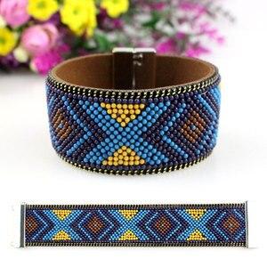 Модные богемные цветные браслеты из бисера, женские трендовые ювелирные изделия ручной работы, подарок, дешевые браслеты из бисера, браслет...