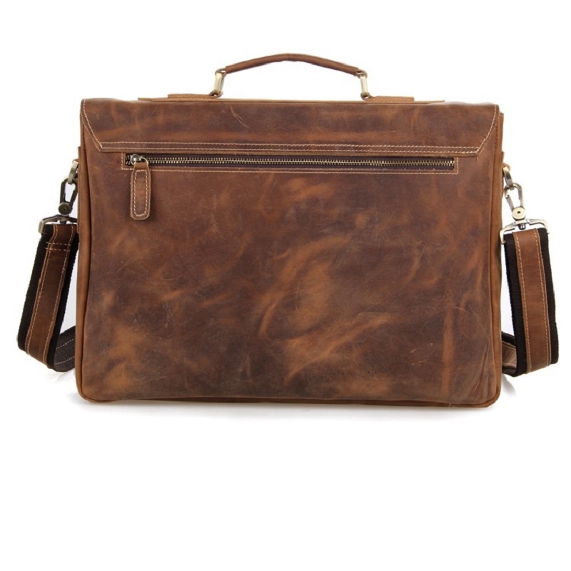 Main À documents Cuir Horse Jmd Sacs Rétro Ordinateur Porte Messenger Crazy Style Hommes En Bandoulière Portable Antique Marron Sac 7229 xxT4qOv