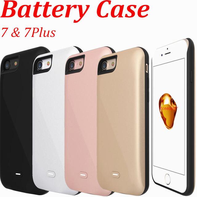 Caso carregador de bateria externa para iphone 7/7 plus caso de energia recarregável portátil banco do poder carregador de telefone proteção shell