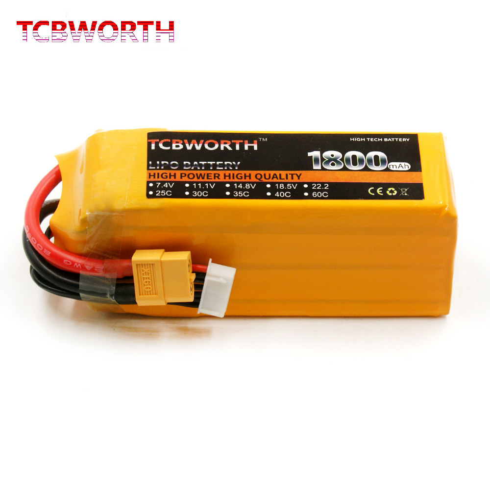 TCBWORTH RC Drone LiPo battery 6S 22.2V 1800mAh 60C Max 120C For RC Airplane Quadrotor RC Li-ion battery tcbworth rc helicopter lipo battery 6s 22 2v 2800mah 60c max 120c for rc airplane quadrotor drone li ion battery