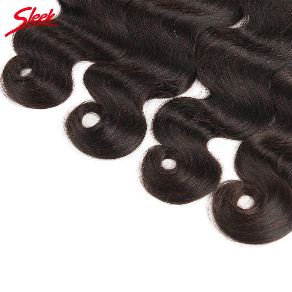 Sleek человеческих волос Бразильский объемная волна Комплект волосы для плетения в природных Цвет 8 To30 Inch крючком косы без утка объемных волос