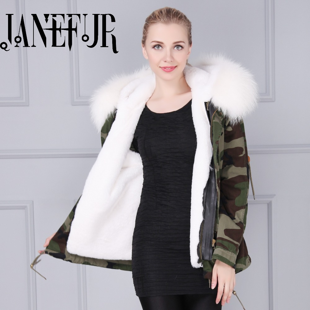 Fashion woman camouflage Large raccoon fur collar hooded coat parkas outwear detachable rabbit fur lining winter jacket fishing lure minnow lures hard bait pesca fishing tackle isca artificial 11cm 13g quality hook swimbait