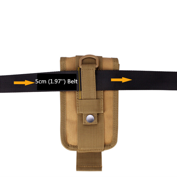 Men Tactical Molle Pouch Outdoor EDC Utility Gadget Belt Waist Bag with 6 Inch Cell Phone Holder