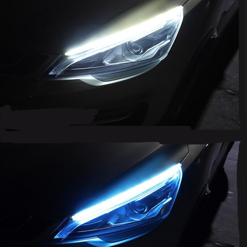 2pcs Ultra Thin Flexible DC12V LED Light Strip Dynamic Streamer Car Lamp For Peugeot 206 207 208 301 307 308 407 2008 3008 4008
