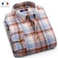 Langmeng 2016 spring autumn mens plaid shirts men casual shirt slim fit dress shirts flannel warm clothes camisa masculina