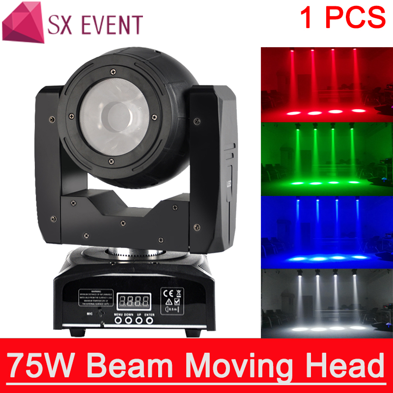 LED 75W Super Beam 75w rgbw 4in1 mini disco Led beam light 75W moving head light for party dj /SXP 75W BEAM