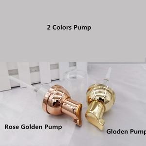 Image 5 - 10ps 30 60ml plástico foamer bomba garrafa rosto vazio cílios limpador cosmético garrafa dispensador de sabão espuma rosa espuma dourada