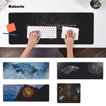 Babaite Top Quality Game of Thrones Office Mice Gamer Soft Mouse Pad Free Shipping Large Keyboards Mat