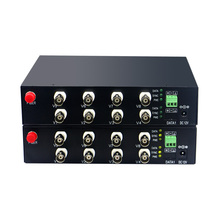Mini convertidor óptico de 8 canales con datos RS485 AHD CVI TVI a fibra, convertidor de medios de fibra 1080P para cámara CCTV 2MP CVI TVI AHD