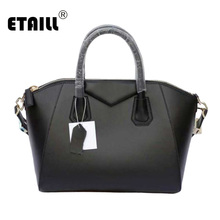 2017 Genuine Cow Leather Boston Bag for Women Ladies Black Large Trapeze Bag Cowhide Famous Brand Celebrity Tote Bags Handbags