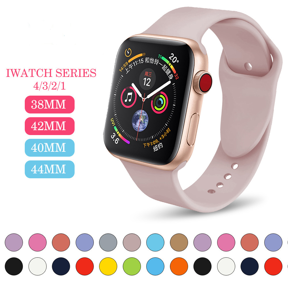 Sports-silicone-Band-For-Apple-watch-Series-3-2-Replace-Bracelet-Strap-watchband-Watchstrap-for -