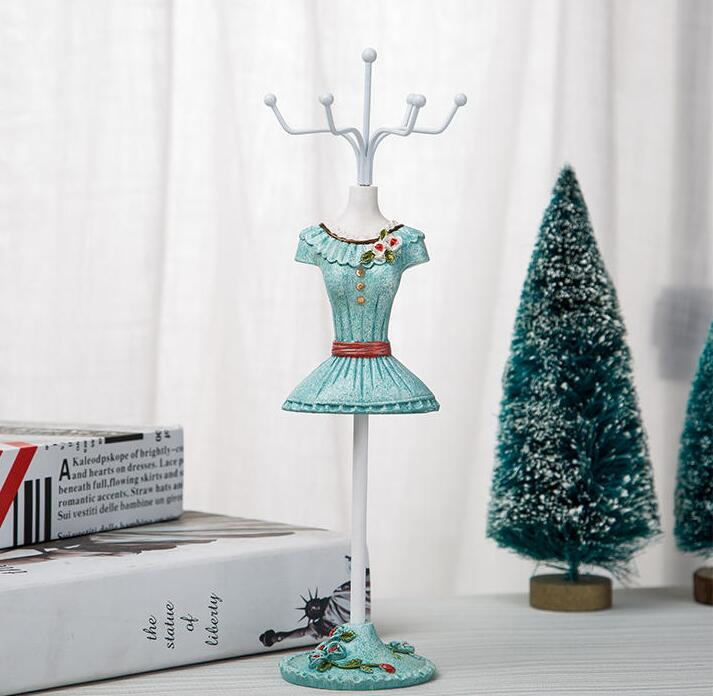 1pc 25 7 5cm Bule home Creative princess Sequins Ornament jewelry rack mannequin body Necklace Display Holder Ring storage C550 in Figurines Miniatures from Home Garden